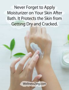 Apply Skin Moisturizer to Protect Skin from Dryness