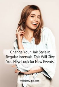 Change Hairstyle Regularly for New Look