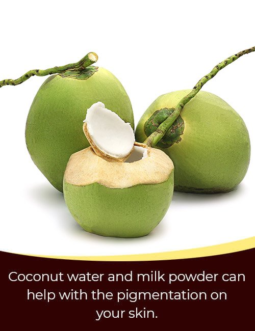 Coconut Water and Milk Powder Face Pack
