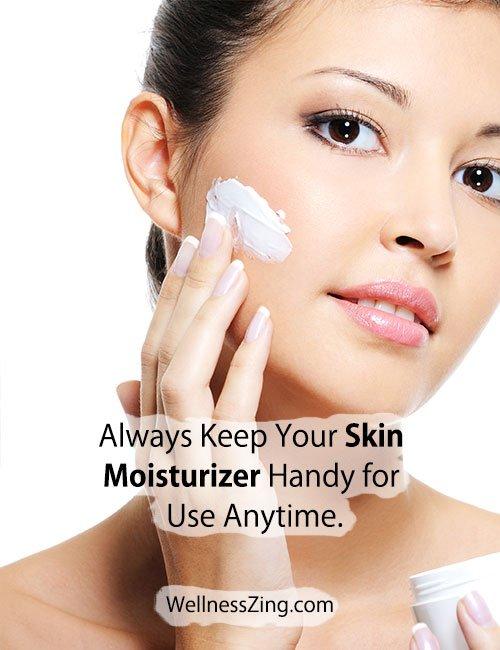 Keep Skin Moisturizer With You Always