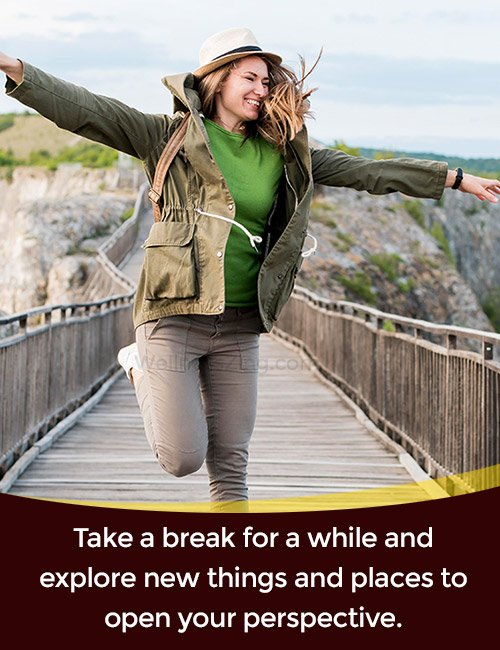 Take a break go on vacation to reduce stress