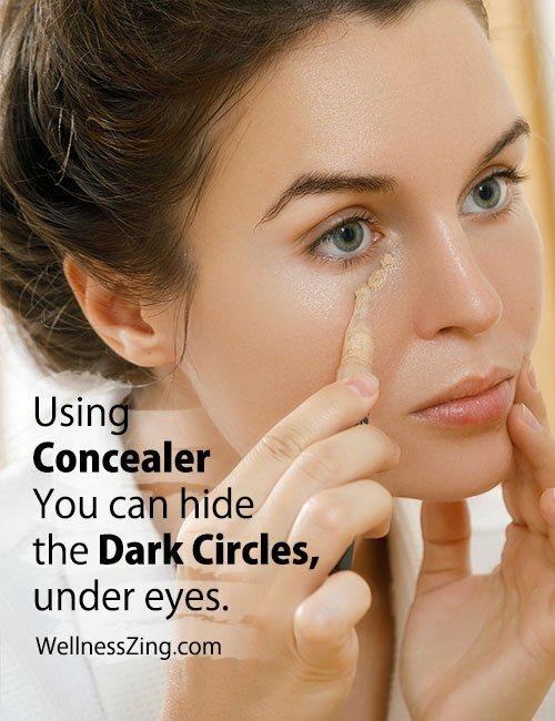 Use Concealer to Hide Dark Circles Under Eyes