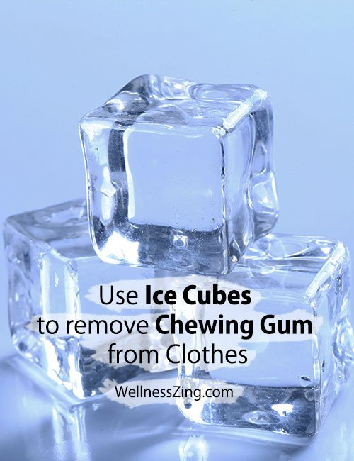 Use Ice Cubes to Remove Chewing Gum from Clothes