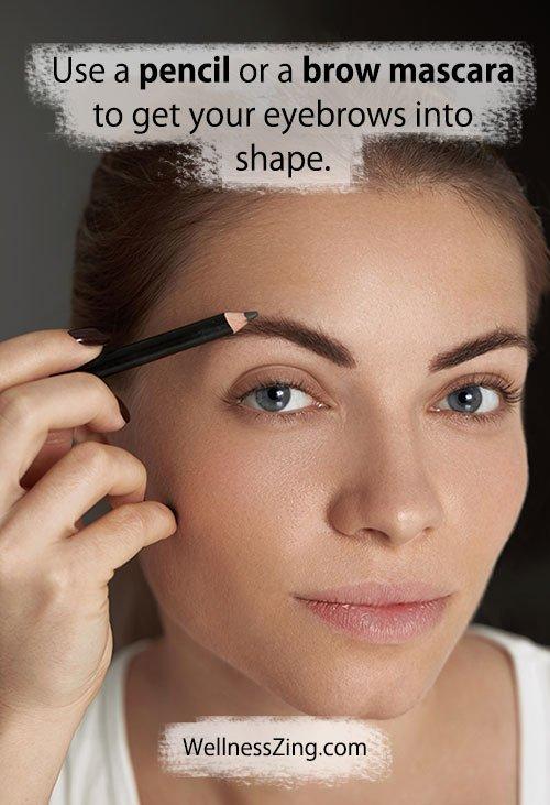 Use Pencil or Brow Mascara for Eye Brows