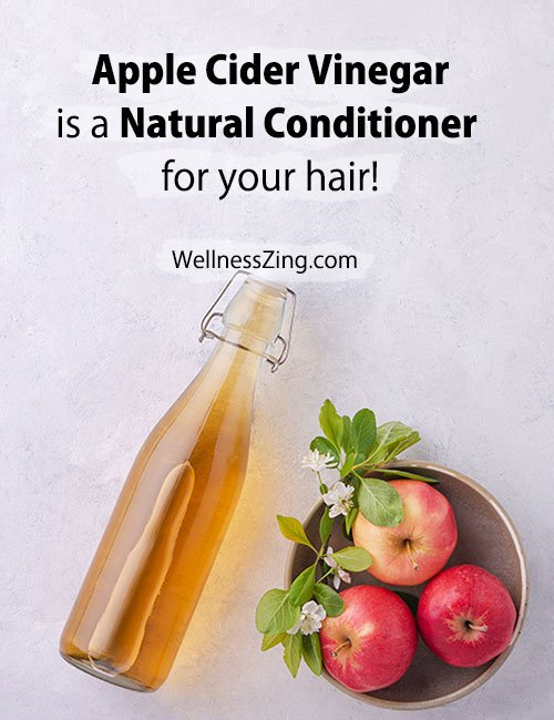 Apple Cider Vinegar is a Natural Hair Conditioner
