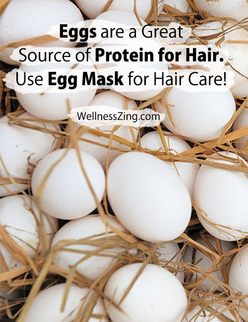 Eggs are great source of protein for hair