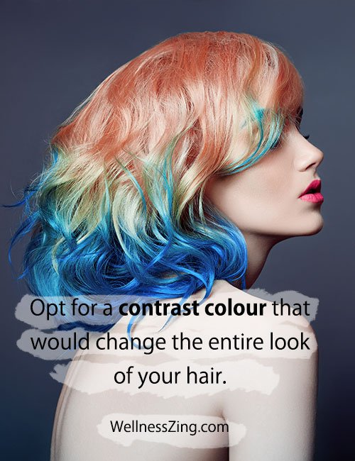 Color Your Hair with Contrasting Colors