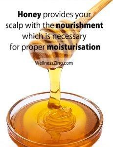Honey Provides Nourishment and Moisturisation to the Scalp