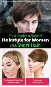 Most Inspiring Natural Hairstyle for Women With Short Hair