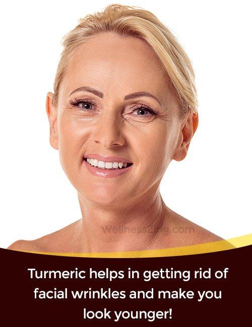 Turmeric Removes Facial Wrinkles