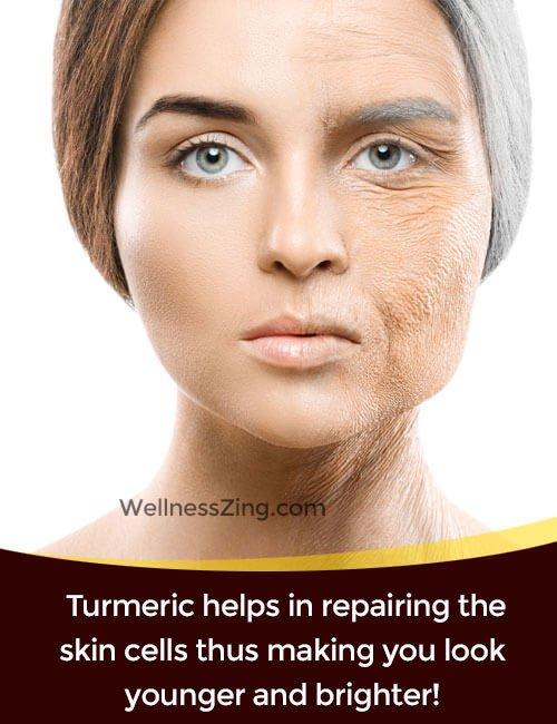 Turmeric Helps in Repairing Skin Cells