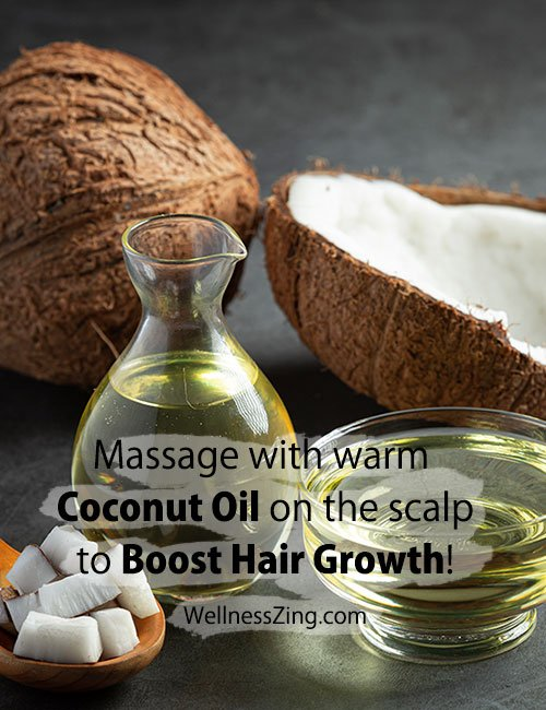Warm Coconut Oil Massage for Better Hair Growth