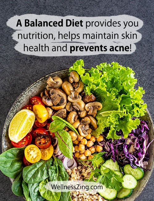 Balanced Diet for Nutrition and Acne Prevention
