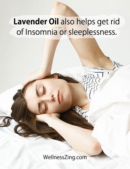 Lavender Oil is useful to treat Sleeplessness