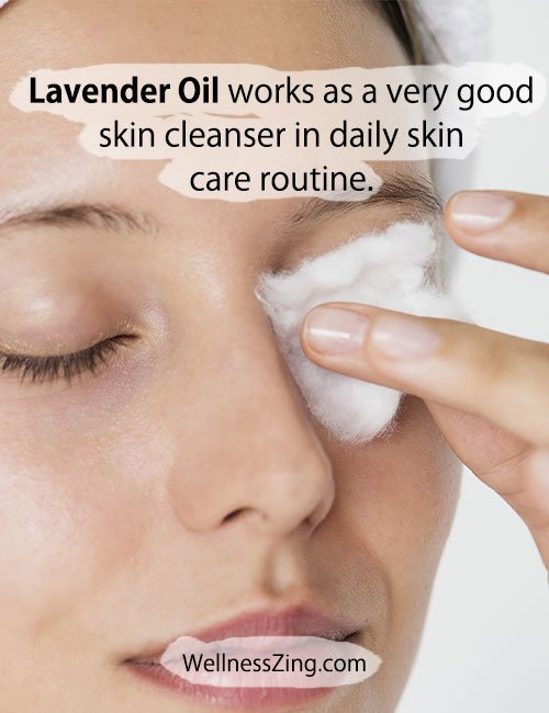 Lavender Oil works as a Skin Cleanser