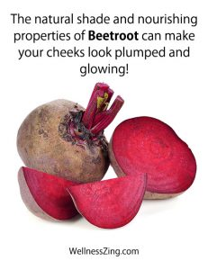 Beetroot and Sugar for Glowing Face