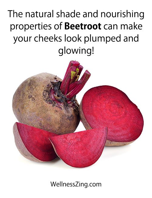 Beetroot and Sugar for Glowing Pink Cheeks at home