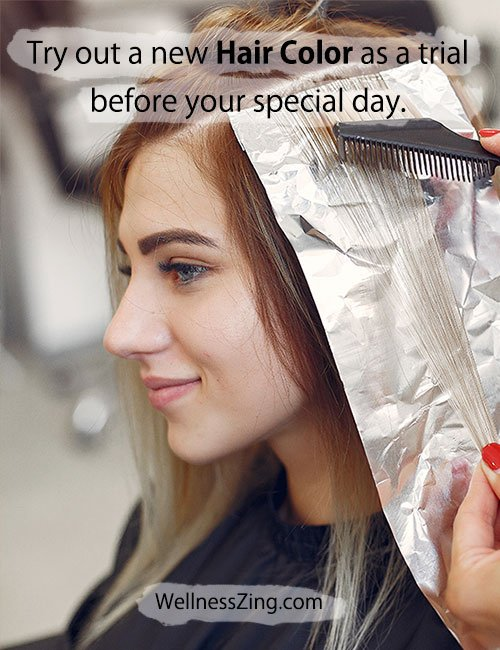 Try a New Hair Color Before Your Wedding Day