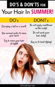 Do's and Don'ts for Your Hair In Summer!