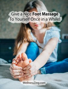 Give Foot Massage to Yourself
