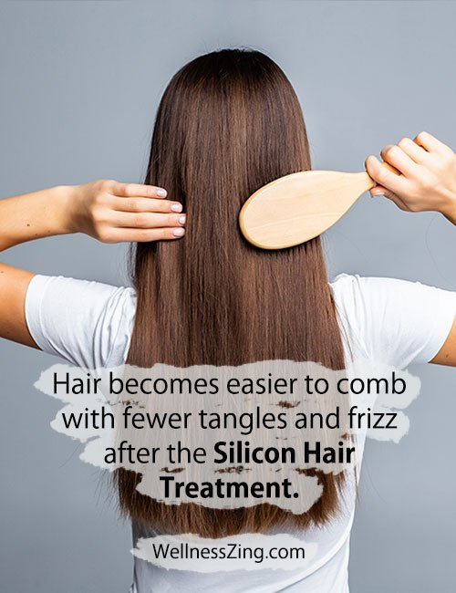 Hair Becomes Easy to Comb After Silicon Hair Treatment