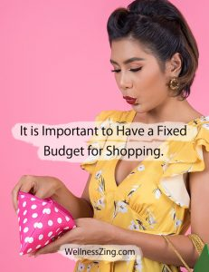 Have a Fixed Budget for Shopping