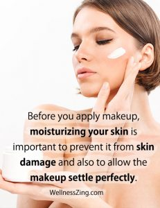 Moisturizing Skin Before Applying a Makeup