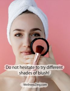 Try Different Shades of Blush in Makeup