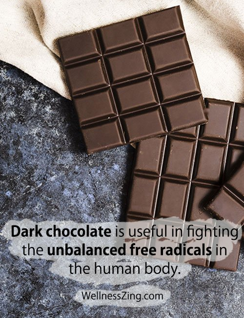 Dark Chocolate Helps Fighting Unbalanced Free Radicals in Human Body
