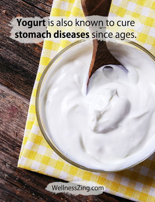 Yogurt is known to Cure Stomach Diseases
