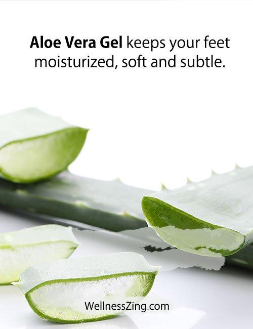 Aloe Vera gel is Good for Moisturizing Feet