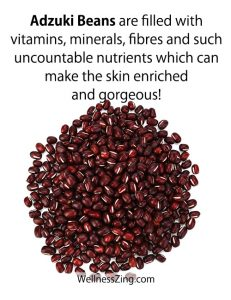 Adzuki Beans are filled with Vitamin and Nutrients for Skin