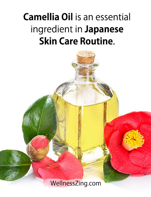 Camellia oil is Used in Japanese Skin Care Routine