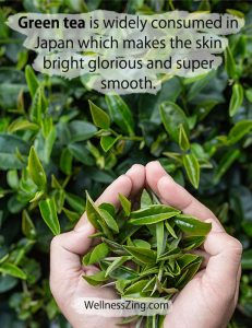 Green Tea Makes Skin Soft Smooth and Bright