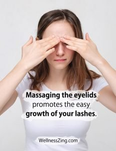 Eyelids Massage Promotes Growth of Eyelashes