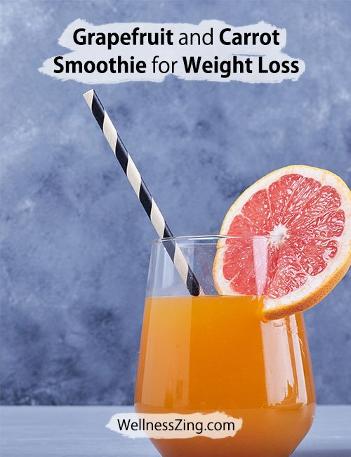 Grapefruit and Carrot Smoothie for Weight Loss