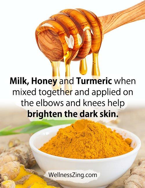 Milk Honey Turmeric Paste for Dark Elbows