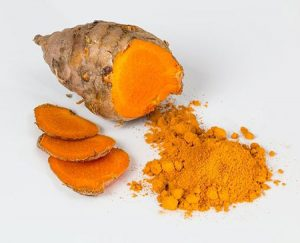 Turmeric has anti bacterial properties that fight with acne