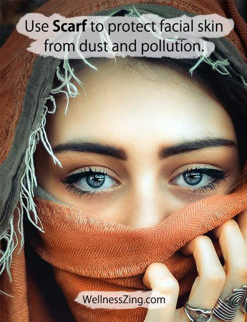 Use Scarf to Protect face from Dust and Pollution