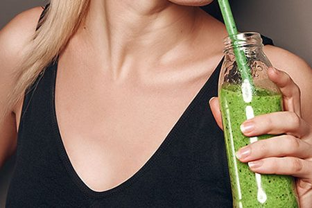 Weight Loss Juice Drinking Woman