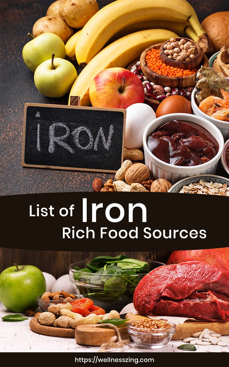 List of Iron Rich Foods and Supplements