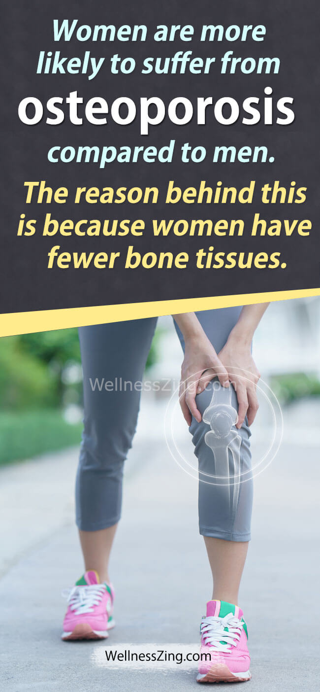 Women are more prone to bone health issue like Osteoporosis