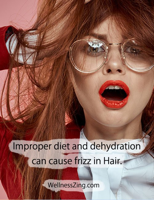 Dehydration is the Cause of Frizzy Hair