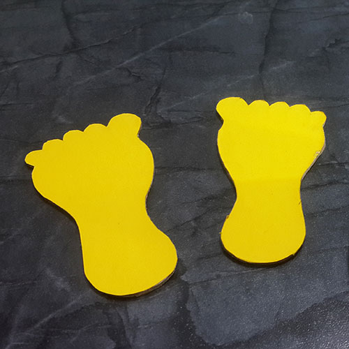 Yellow Paper Cover Cardboard Feet