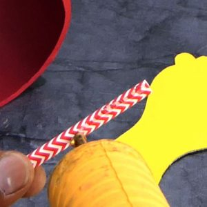 Apply Glue on Drinking Straw