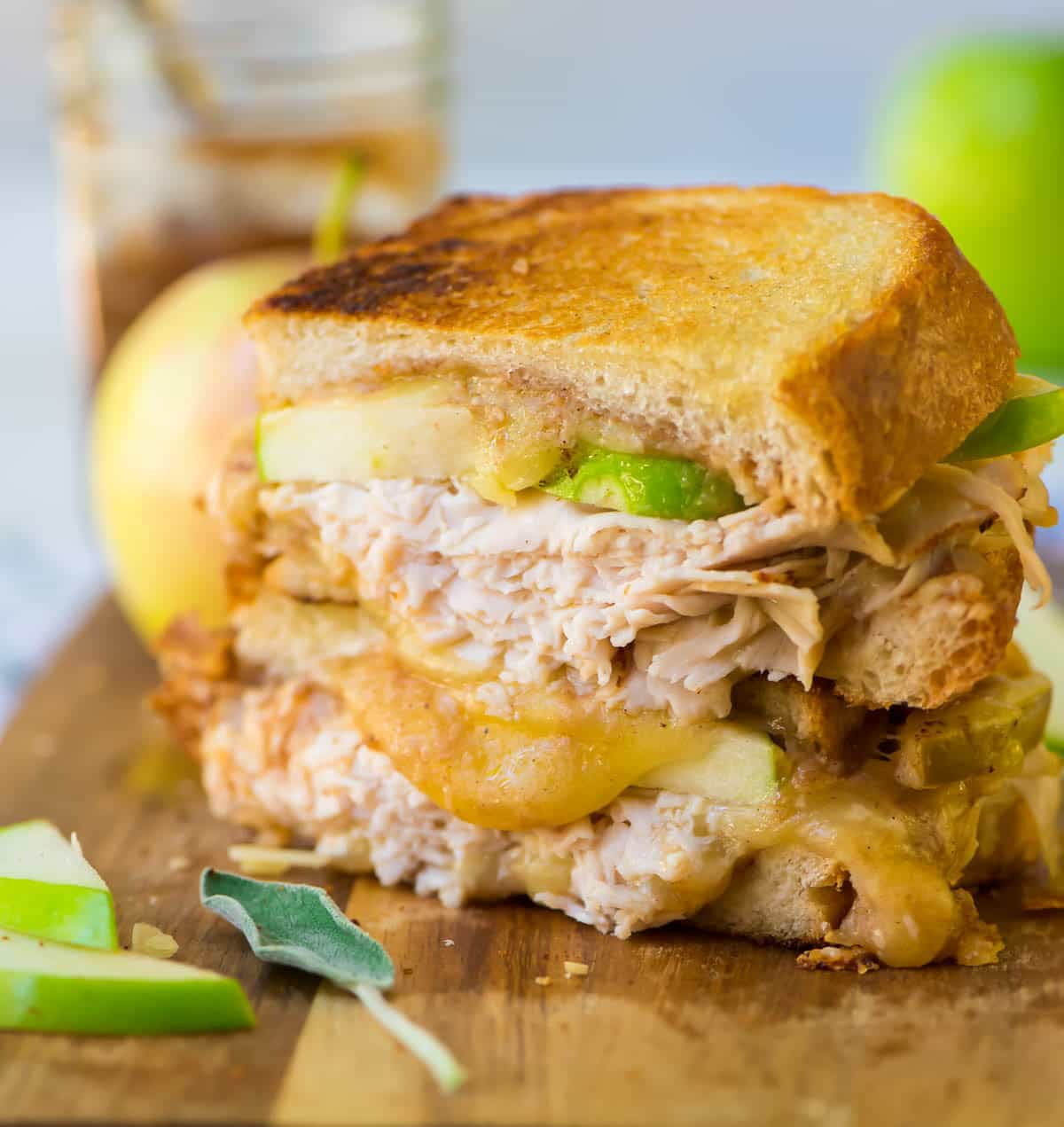 Apple Grilled Cheese with Turkey recipe