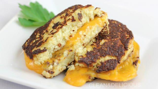 Cauliflower Grilled Cheese Sammie « Clean & Delicious