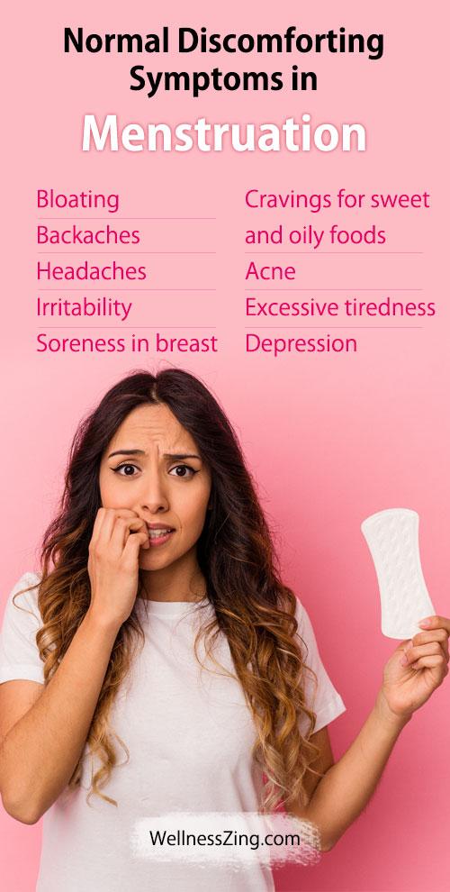 Normal Discomforting Symptoms in Menstruation