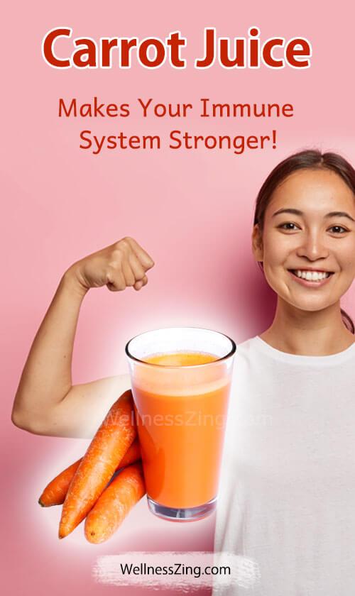 Carrot Juice Makes Immune System Stronger